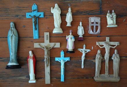 Plastic Religious Icons