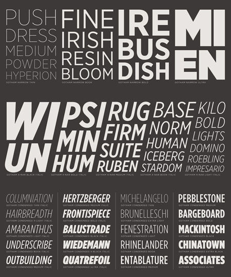 Graphic Design and typography - Swiss Legacy » The New Gothams