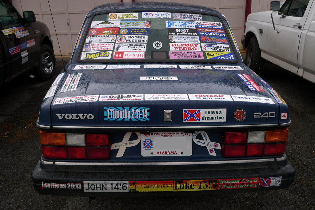 Flickr Photo Download: Bumper stickers on my car
