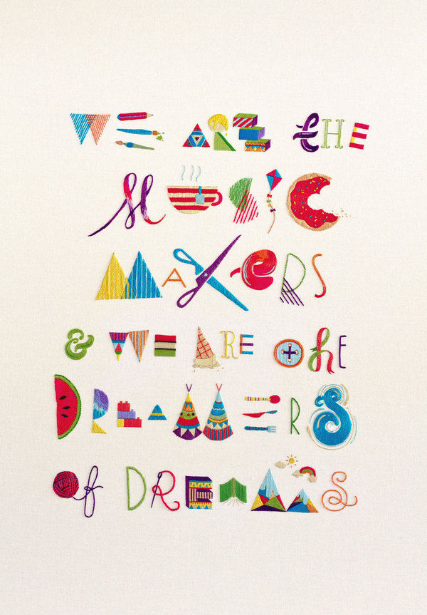 Makers, Dreamers - handmade embroidery on the Behance Network
