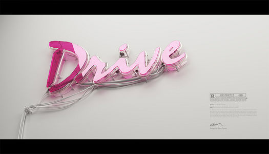 "All sizes | ""Drive"" neon 