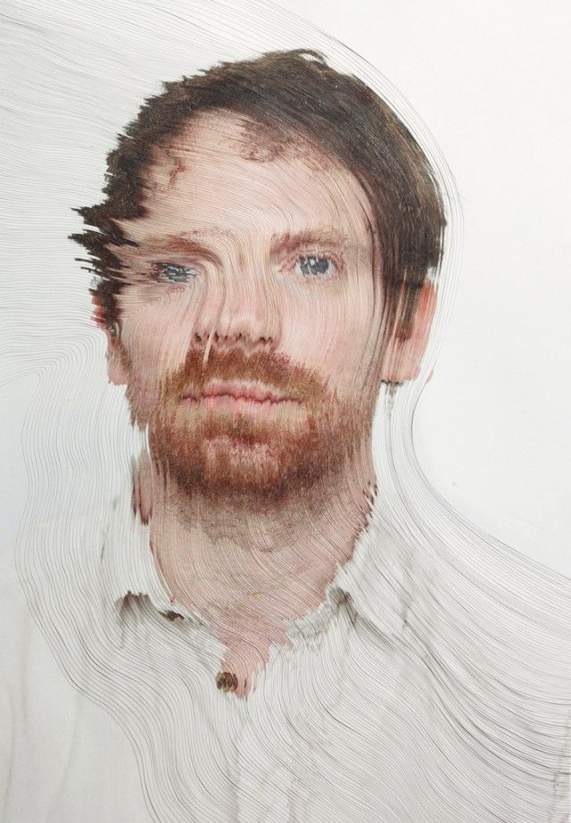 Time-lapse Portraits Layered and Cut to Reveal the Passage of Time | Colossal