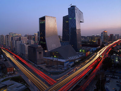 Beijing: Mandarin Oriental & CCTV Tower on Flickr - Photo Sharing!