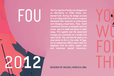 Fou by URW   - Desktop Font, WebFont and Mobile Font - YouWorkForThem