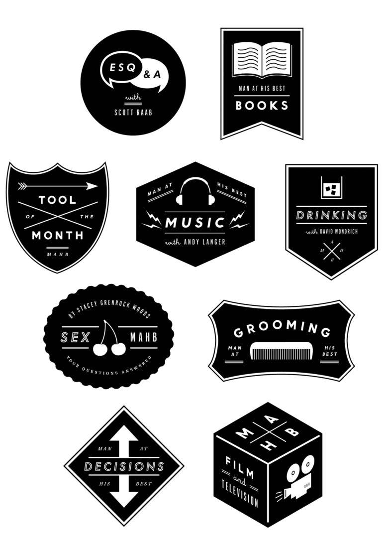 Hello | The Indigo Bunting: NEW WORK: Esquire Section Logos