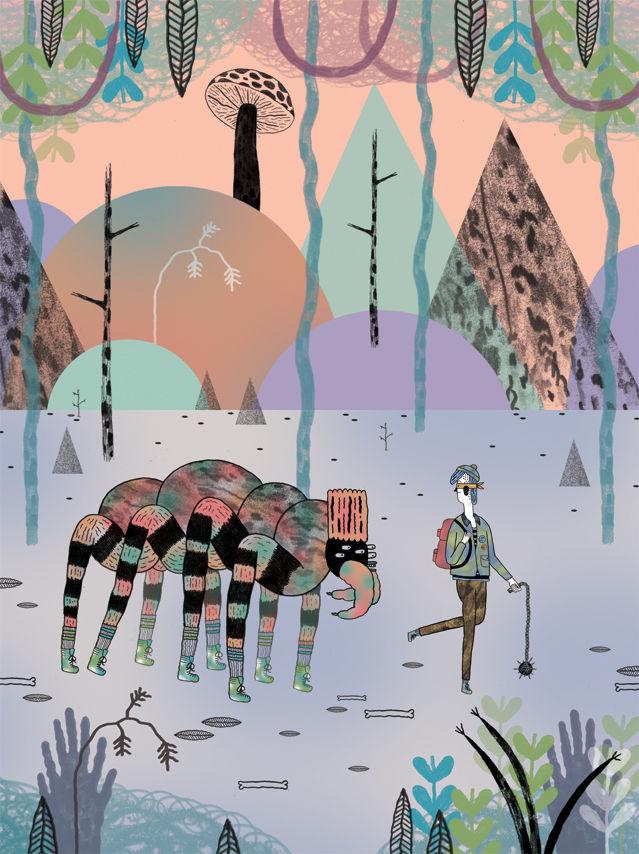 The Professor and the Paperboy - John Malta Illustration
