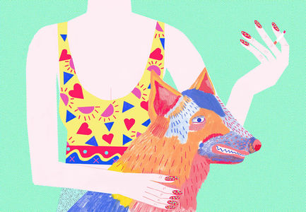 Bold and bright illustrations from Ellie Andrews | The Fox Is Black
