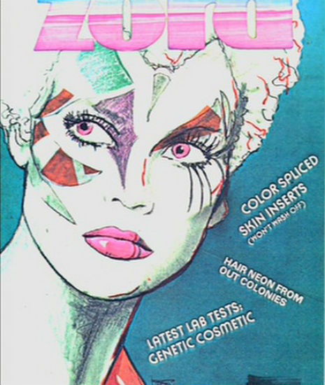 Dangerous Minds  'Hot Lust in Space': Fictional magazine covers from the newsstand scene in 'Blade Runner'