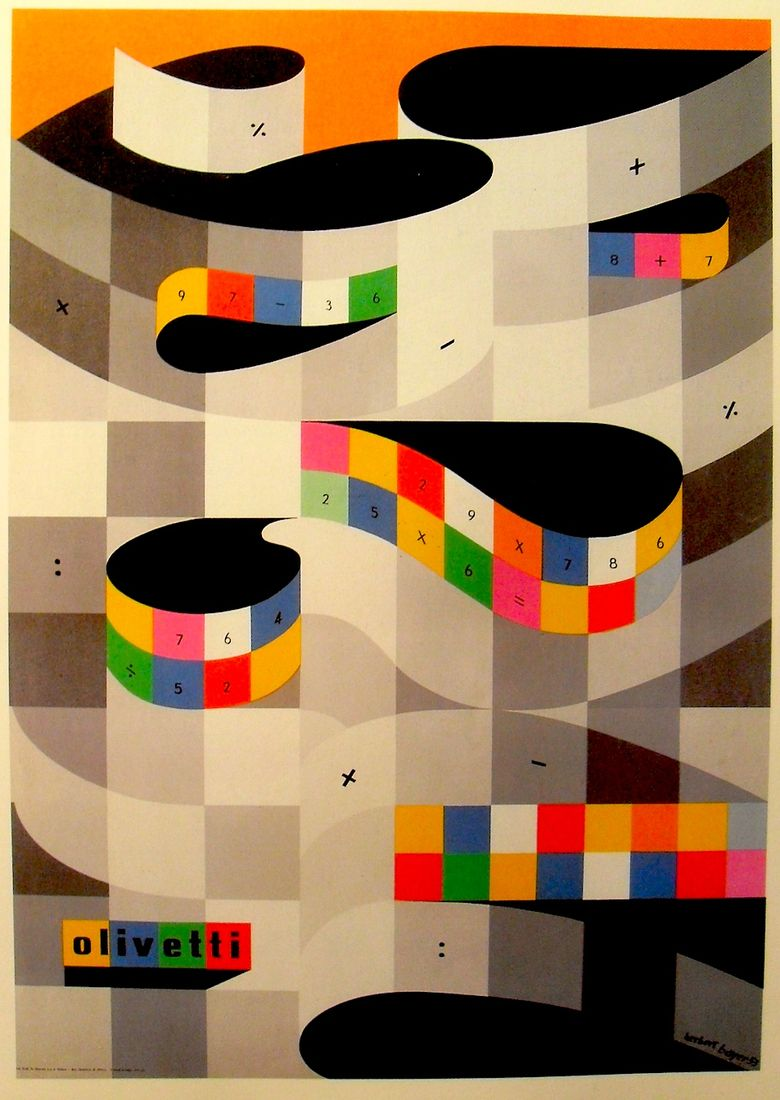 All sizes | 1953 Illustration Poster HERBERT BAYER Olivetti Typewriter | Flickr - Photo Sharing!