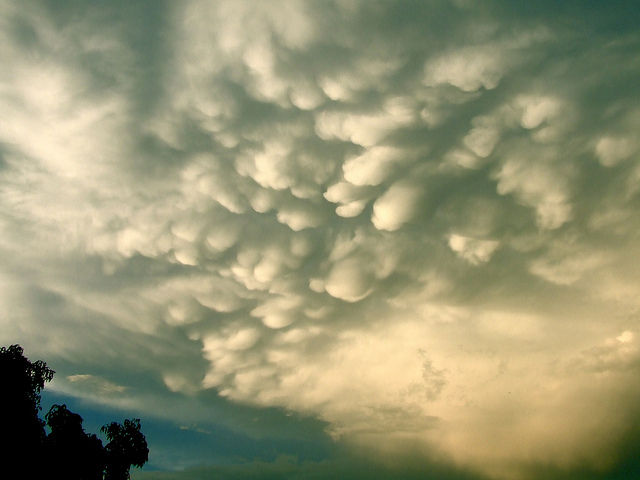 Mammatus clouds after Friday's afternoon deluge. | Flickr : partage de photos !