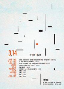 4 places à gagner pour la soirée 3.14 du 7 juin à la machine du moulin rouge  - Input Selector - Electronic music webzine