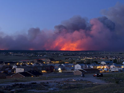 The Black Forest Fire at Dusk  Flickr - Photo Sharing