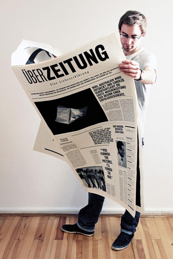 Überzeitung – Eine Liebeserklärung on Behance