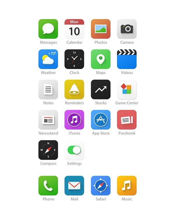 iOS 7 - Redesign on Behance