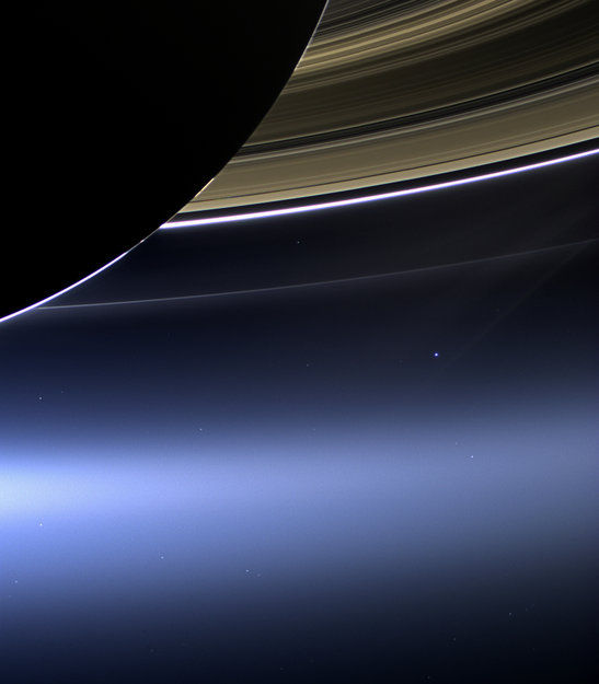 Space in Images - 2013 - 07 - Cassini's Pale Blue Dot