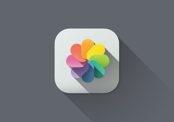 Long shadow love: iOS 7 icons redesign on Behance
