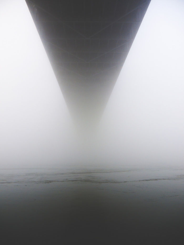 Astoria NY In Fog - Josh Ethan Johnson