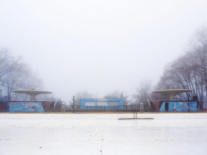 Astoria NY In Fog - Josh Ethan Johnson