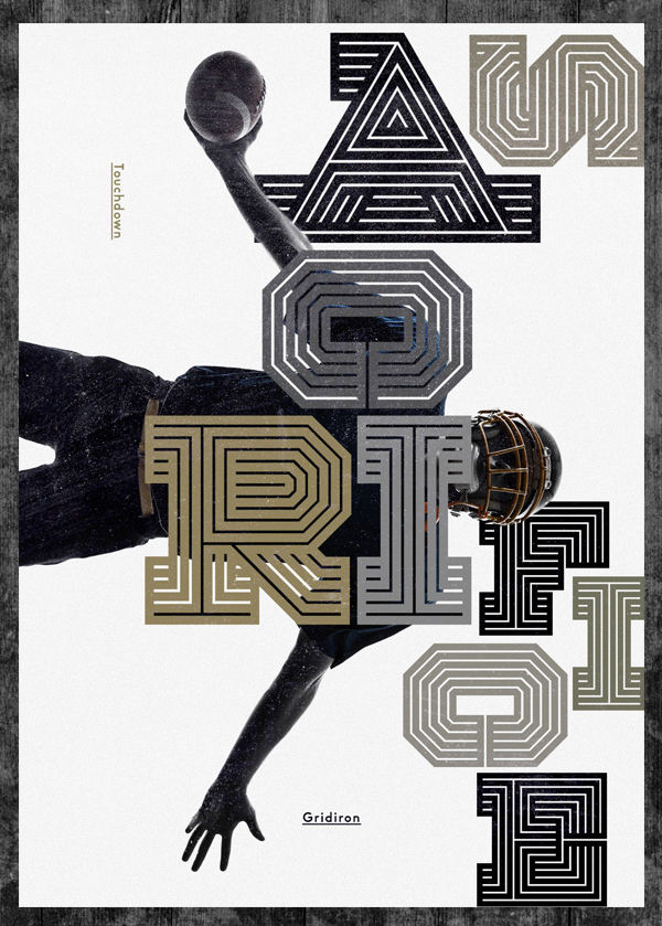 Gridiron typeface on Behance
