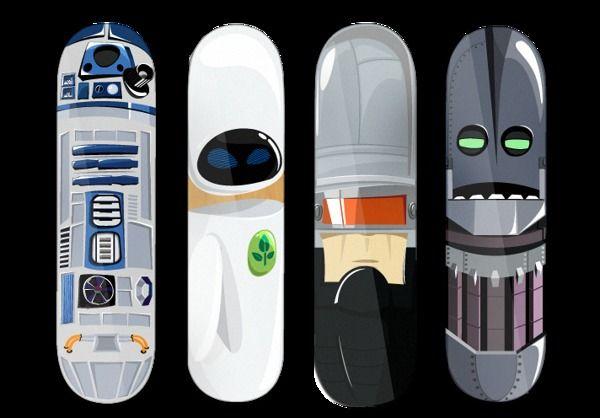 Robot Sk8boards on Behance