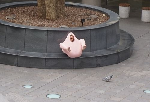 Freezing Japanese Guy Uses A Sweater To Turn Himself Into A Turkey | Bored Panda