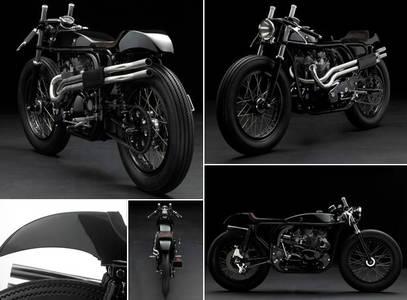 Daniel Delfour's Triton custom motorcycle