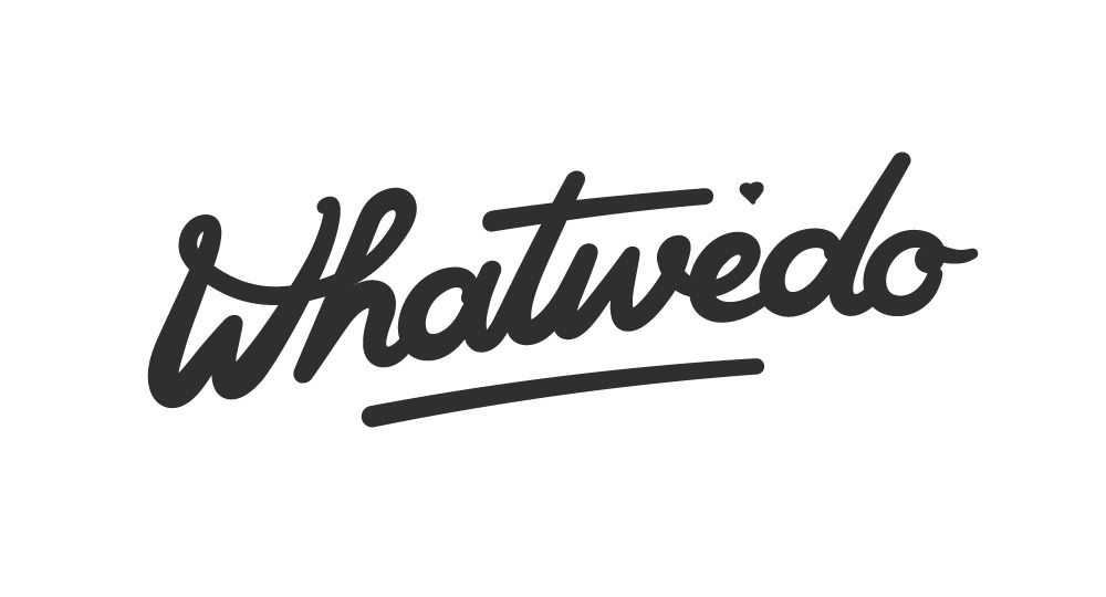 whatwedo: custom script lettering logotype / by mood/wood