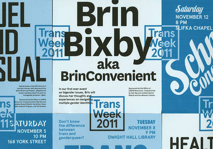 Trans Awareness Week at Yale - Jessica Svendsen