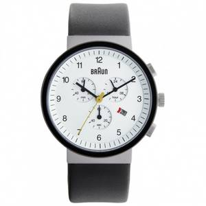 Braun Watch black leather BN0035WHSLBKG | Buy Mens Braun Watch BN0035WHSLBKG UK