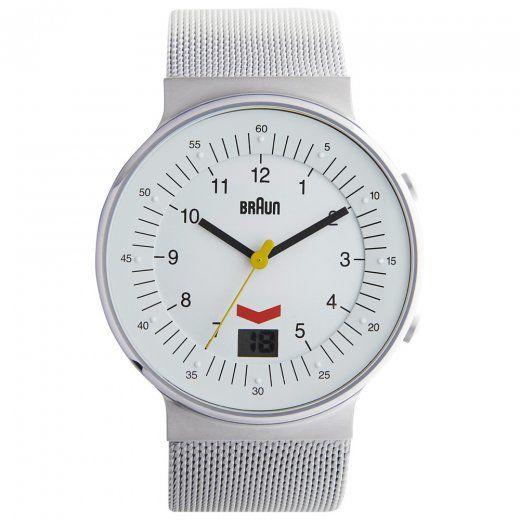 Braun Watch Silver Mesh BN0087WHSLMHG | Buy Mens Braun Watch BN0087WHSLMHG UK
