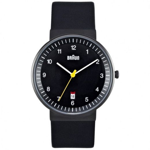 Braun Watch black leather BN0032BKBKG | Buy Mens Braun Watch BN0032BKBKG UK