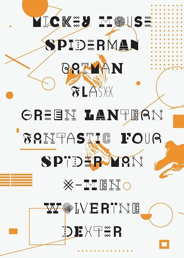 Random font on Typography Served