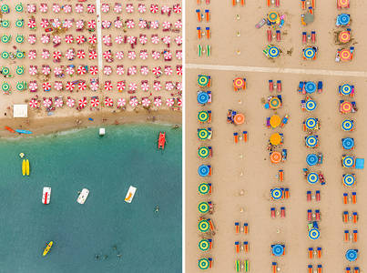 Aerial Adria: An Italian Beach Resort Photographed from Above by Bernhard Lang