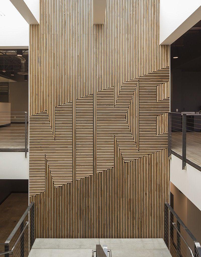 NIKE Wood Feature Wall | FIELDWORK