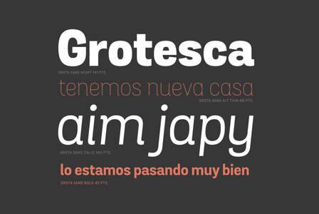Grota Sans - Desktop Font