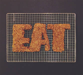 Gorgeous Food Typography Created With Real Ingredients - DesignTAXI.com
