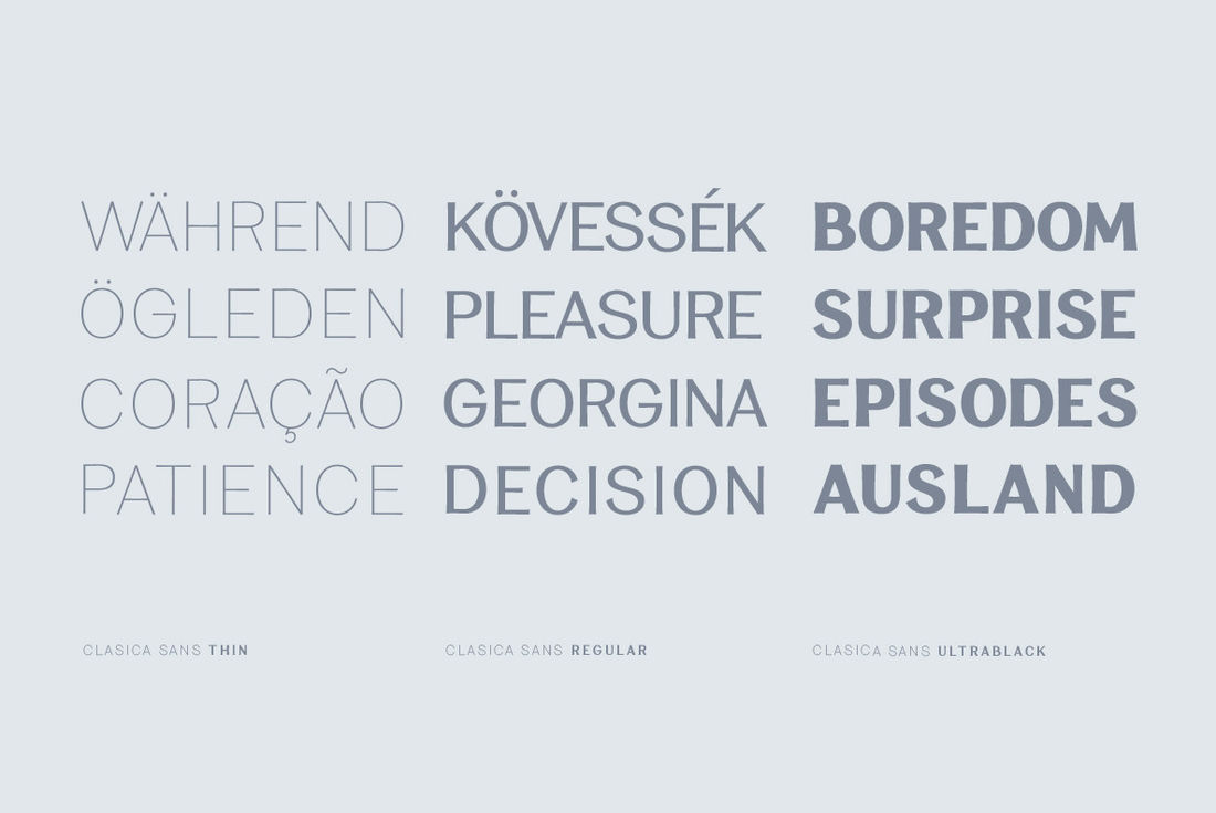 Clasica Sans - Desktop Font