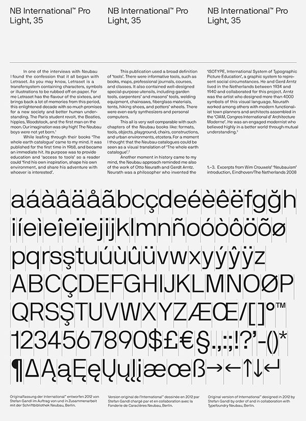 NB International™ Pro Specimen on Typography Served