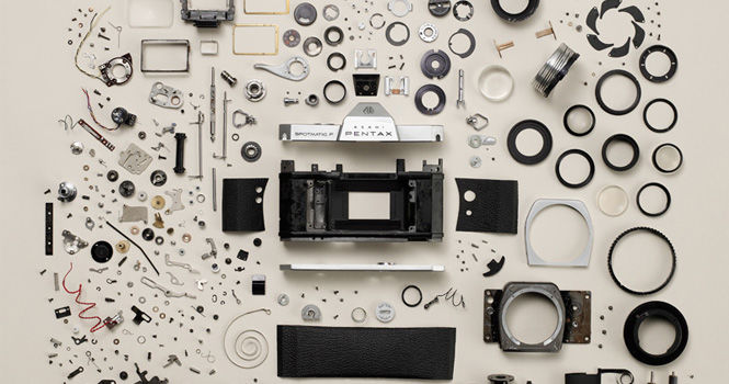 Pentax Spotmatic and K10D Disassembled