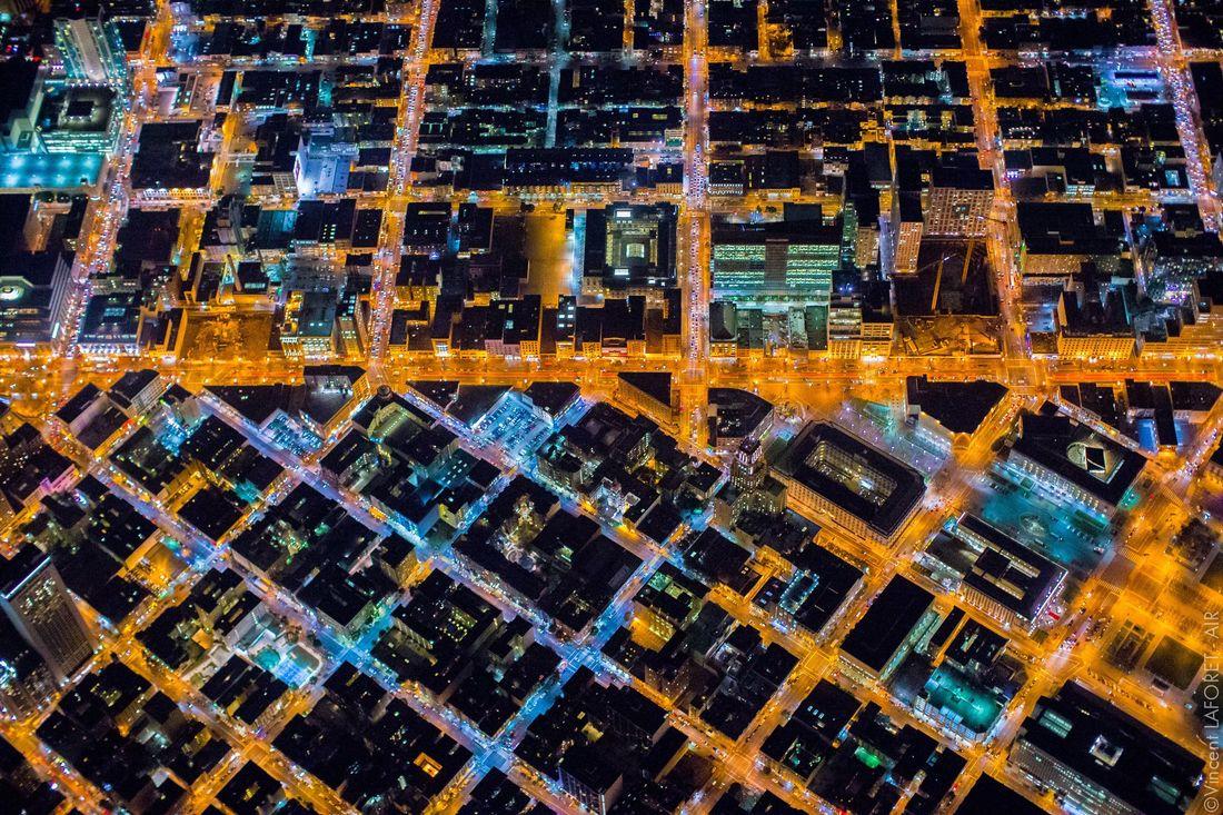 La vie nocturne de San Francisco vue de 2000 mètres de haut | The Creators Project