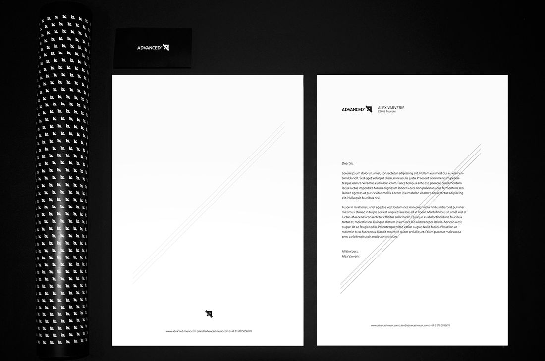 Advanced_Corporate Identity on Behance