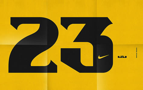 It's Nice That | Sawdust creates dynamic typeface for LeBron James for Nike basketball