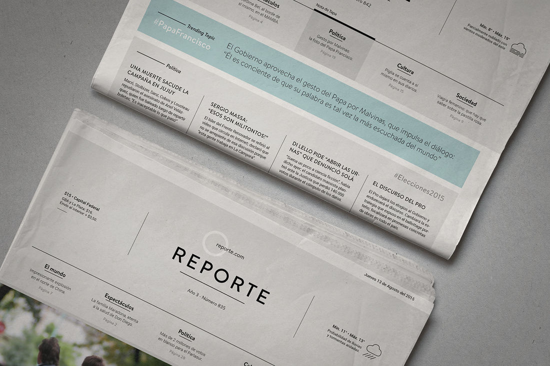 Reporte⎢Newspaper Covers on Behance