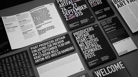 P/ART producers artfair - corporate design on Behance