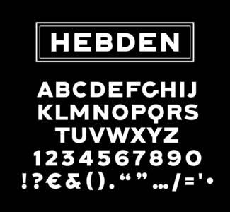 Hebden Typeface - Lewis McGuffie | Signs & Designs