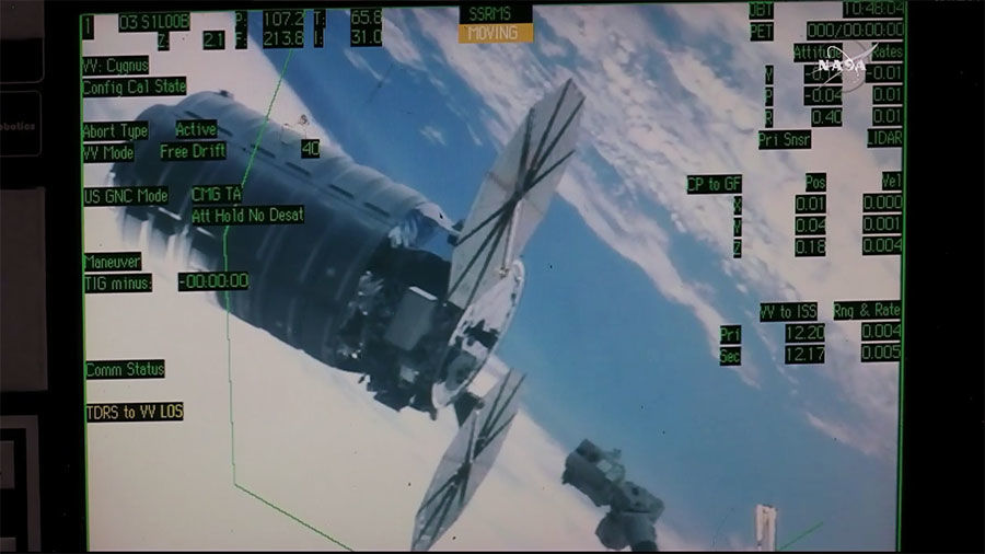 Robotic Arm Grabs Space Delivery After Three Day Mission   Space Station