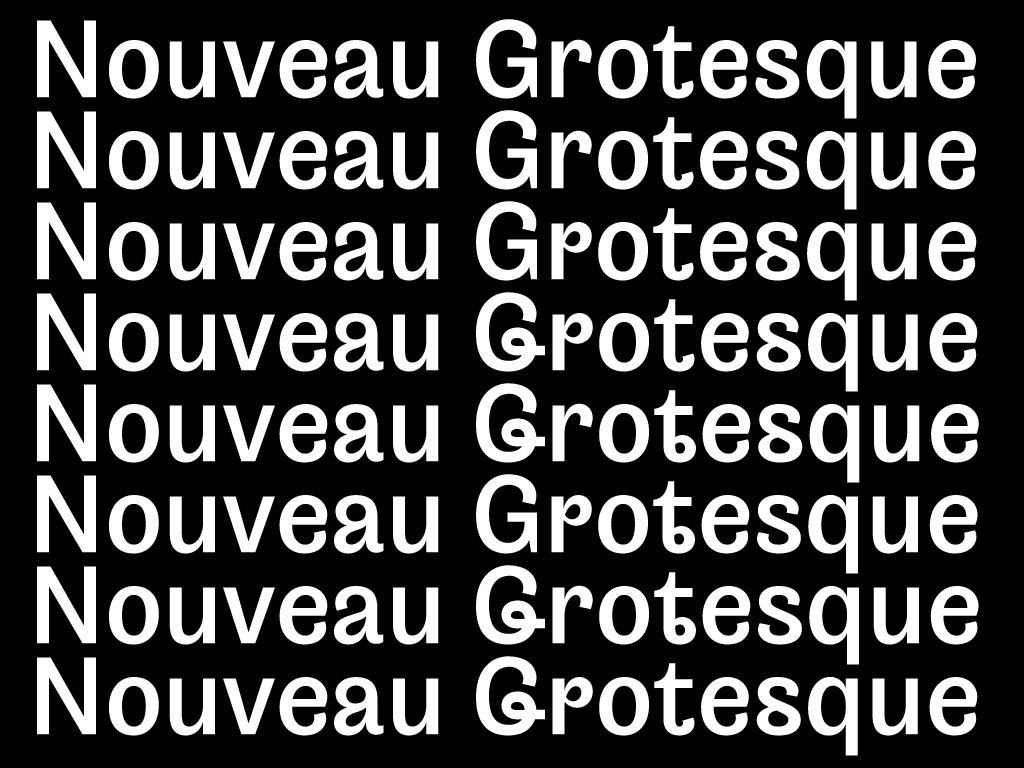 Nouveau Grotesque on Behance