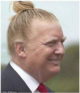 Donald-Trump-With-High-Bun-Hair-Style-Funny-Photo.jpg (634×735)