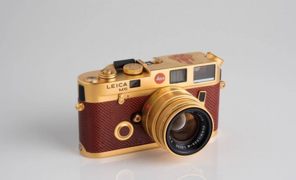 Leica's limited-edition golden cameras honoring HM the King go on display next week, and you can actually buy one