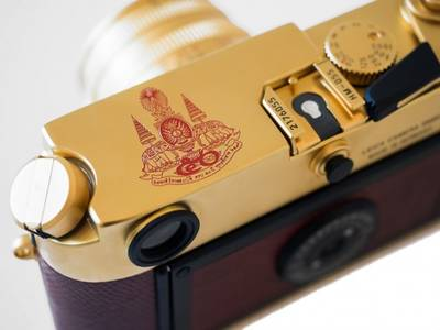 Leica's limited-edition golden cameras honoring HM the King go on display next week, and you can actually buy one  BK Magazine Online